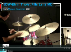 The goal with this series is to show you how to construct high-energy fills like those Elvin played, in an effort to take your drumming to a new level. Click here to check out the video for part 2!