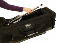 <b>Drumfire DHB6500 hardware bag holds up to eight stands.</b>