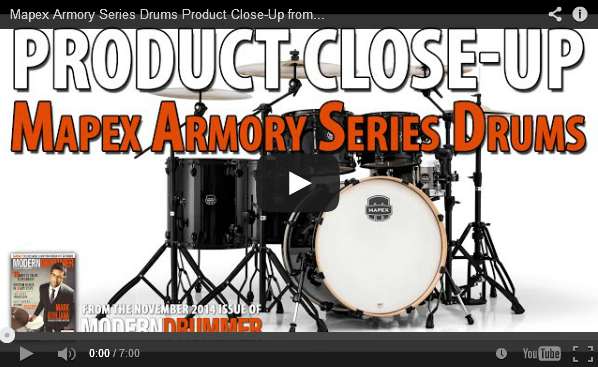 Product Close-Up: Mapex Armory Series Drums