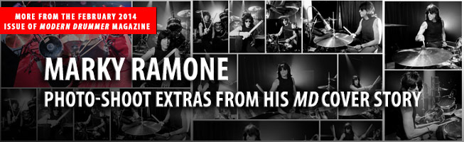 Marky Ramone: Photo-Shoot Extras From His February 2014 Modern Drummer Cover Story