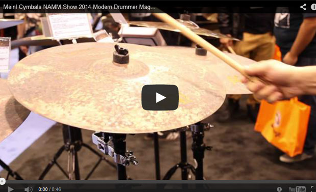 VIDEO - Meinl Cymbals NAMM Show 2014 New Gear Coverage