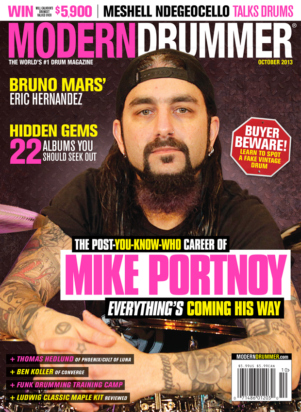 October 2013 Issue of Modern Drummer Featuring Mike Portnoy