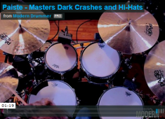 """The Paiste Masters series started in 2011 as a dozen ride cymbals, made from Paiste's CuSn20-formula bronze. In 2014, the company fleshed out the series with three crashes (16"""", 18"""", and 20"""") and two sets of hi-hats (14"""" and 15""""). Click to check out a demo video."""