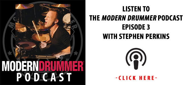 Modern Drummer Podcast Episode 3 With Stephen Perkins