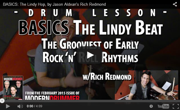 VIDEO! The Lindy Beat: The Grooviest of Early Rock Grooves (From the February 2015 Issue)
