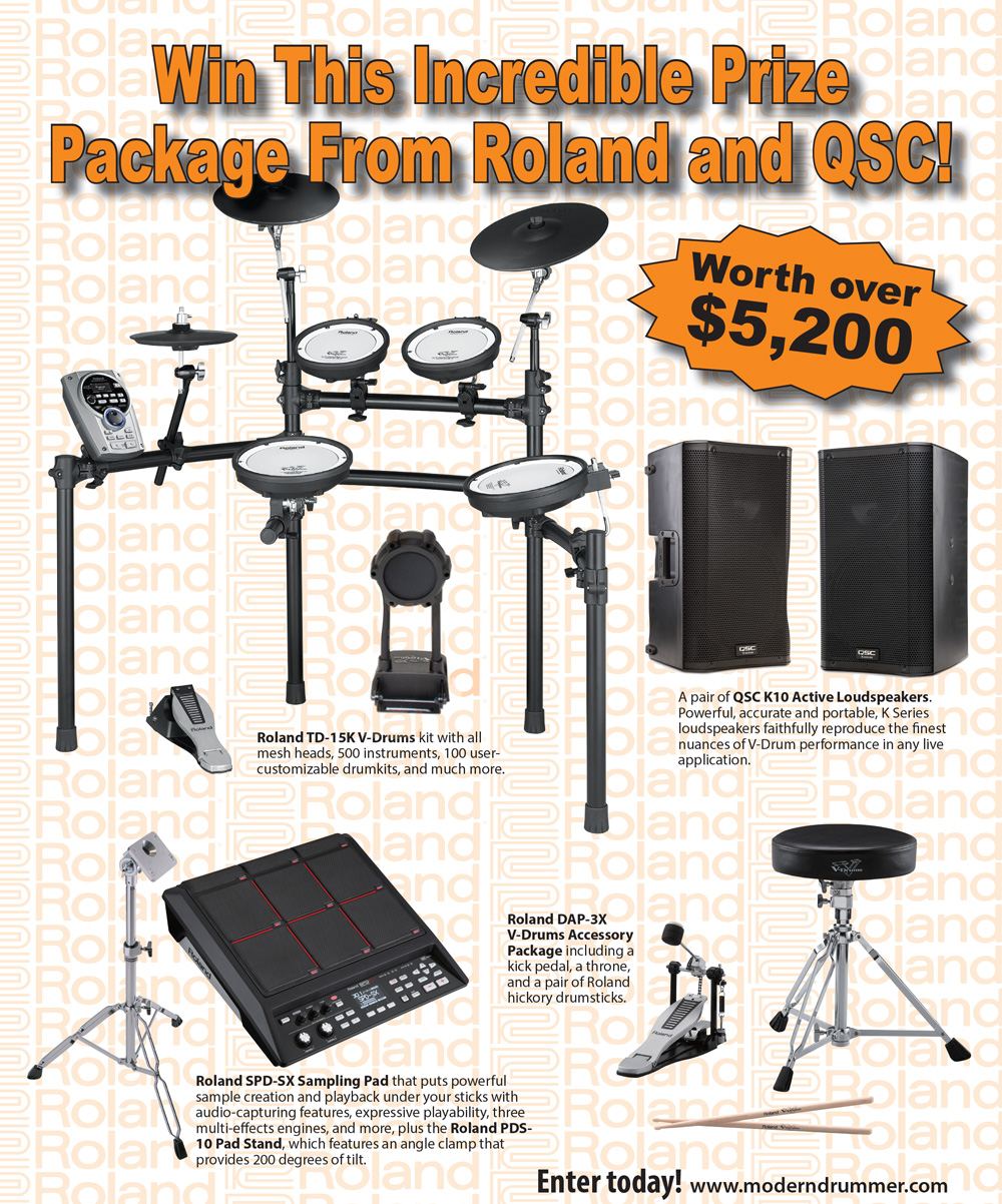 Win an Incredible Prize Package From Roland and QSC!