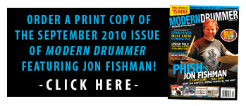 Order A Print Issue of September 2010 Issue of Modern Drummer Featuring Phish's Jon Fishman