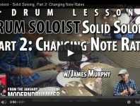 VIDEO! Solid Soloing, Part 2: Changing Note Rates (From the Janua...