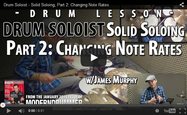 VIDEO! Solid Soloing, Part 2: Changing Note Rates (From the January 2015 Issue)