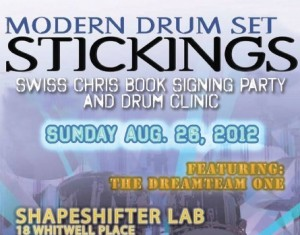 Modern Drum Set Stickings Book Signing Party/Clinic