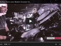 Bon Jovi's Tico Torres Visits Modern Drummer Online, Part 1 (VI...