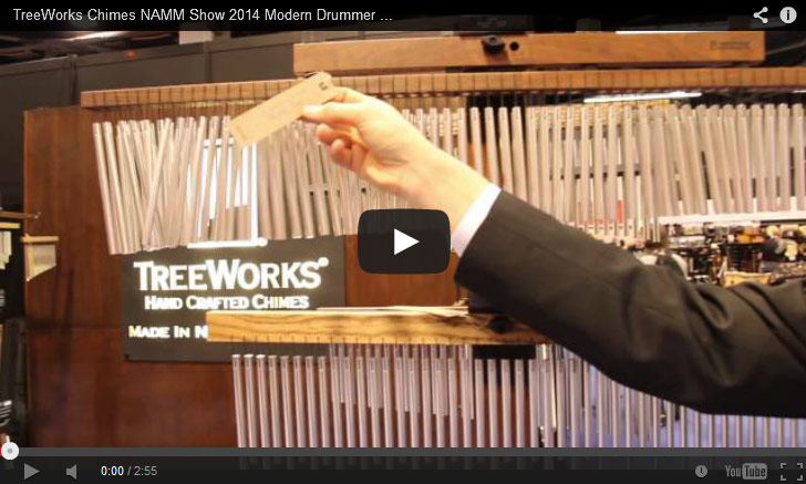 VIDEO - TreeWorks Chimes NAMM Show 2014 Modern Drummer Magazine New Gear Coverage