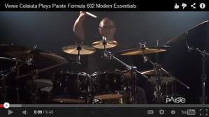Paiste Artist Vinnie Colaiuta Discusses the Formula 602 Modern Essentials Series