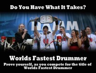 The World's Fastest Drummer contest is returning to the Summer NAMM Show, which is being held this July 17th thru the 19th, at the Music City Center in Nashville, TN....