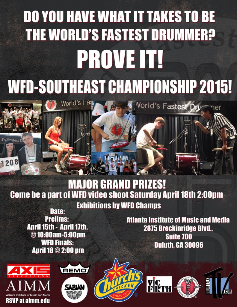 "News: ""World's Fastest Drummer"" Southeast Championship Scheduled for April 2015"